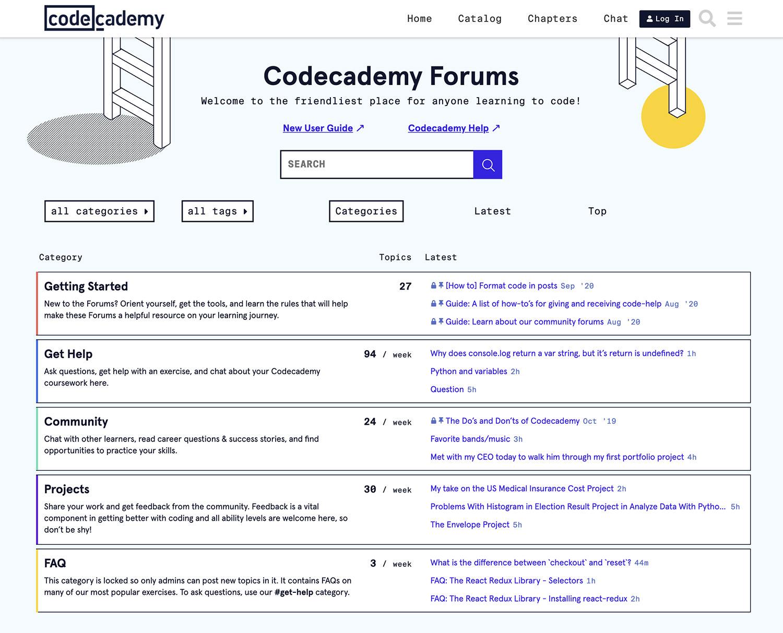 CodeCademy Discuss