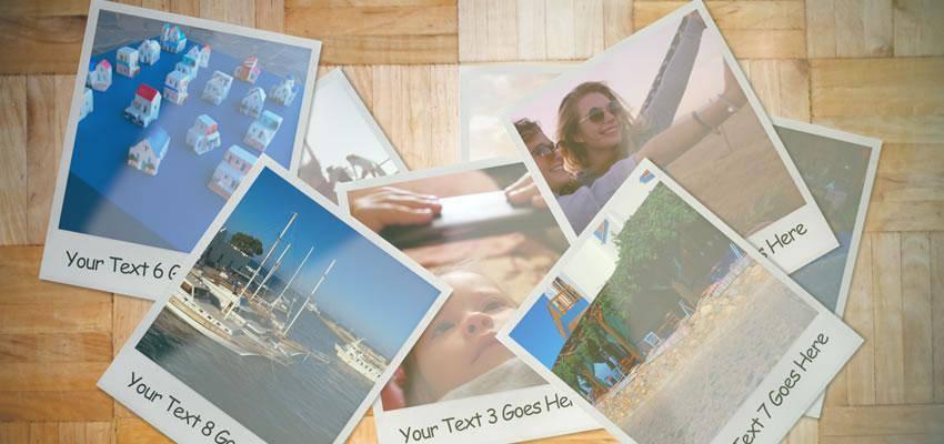 Polaroid Photo Gallery Motion Template