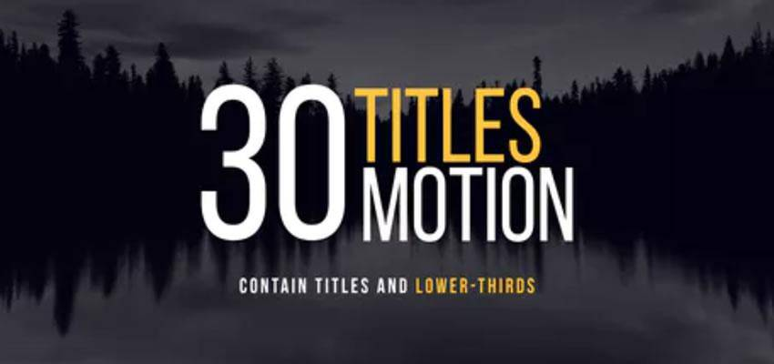 30 Apple Motion Titles
