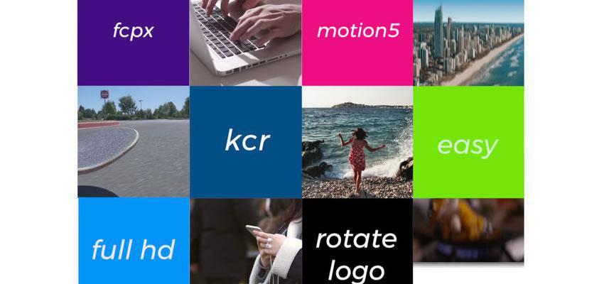 Simple Logo Apple Motion Template