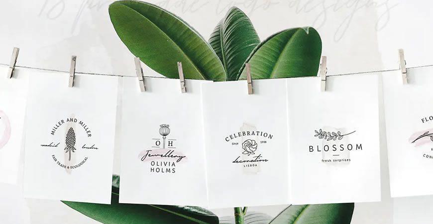 So Flowery Watercolor Branding logo creator kit template