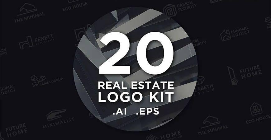 Real Estate logo creator kit template