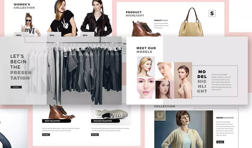 Fashion Lookbook google slides theme presentation template