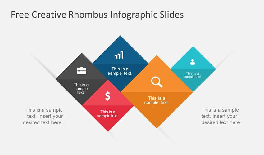 Rhombus Infographic google slides theme presentation template free