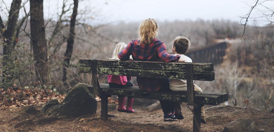 mother children park view
