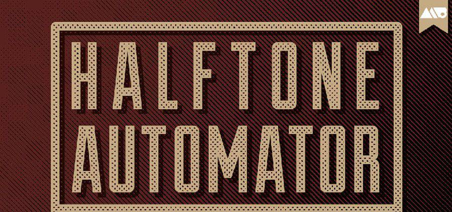 Halftone Automator vintage free photoshop action atn