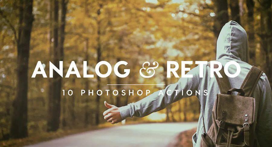 Analog Retro vintage photoshop action atn