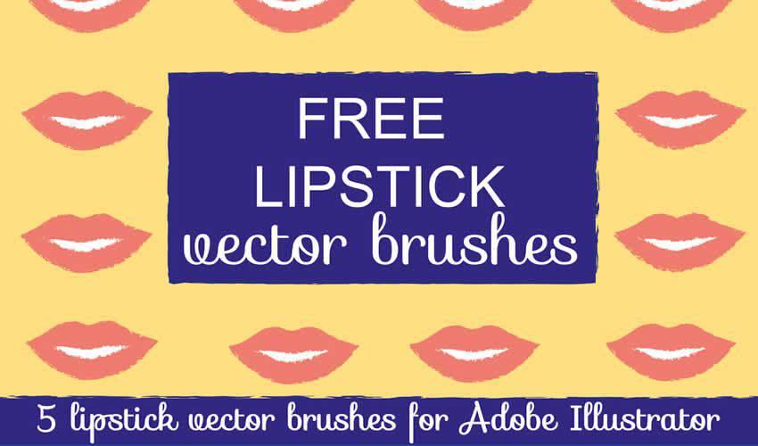 Lipstick Vector adobe illustrator brush brushes abr pack set free