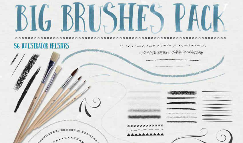 big adobe illustrator brush brushes abr pack set free