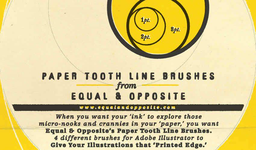 Paper Tooth Line adobe illustrator brush brushes abr pack set free