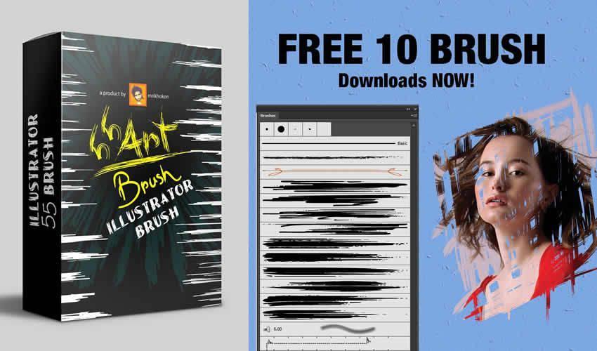 art adobe illustrator brush brushes abr pack set free