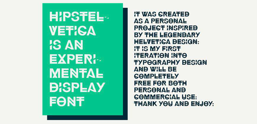 Hipstelvetica free clean font typeface