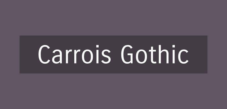 Carrois Gothic free clean font typeface