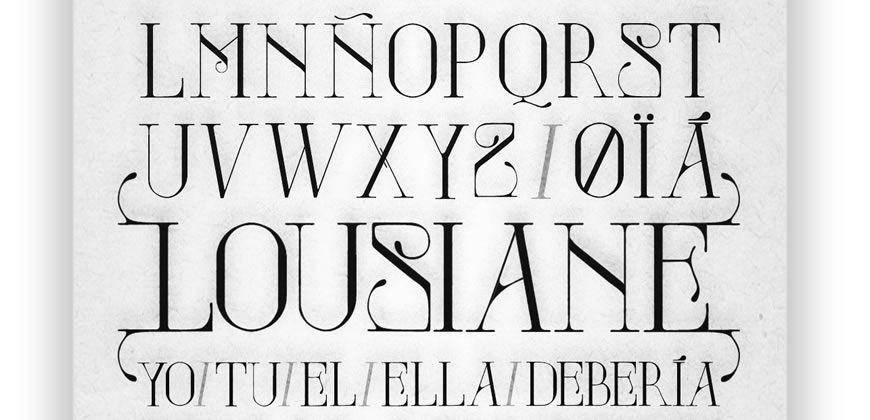 Lousiane free clean font typeface