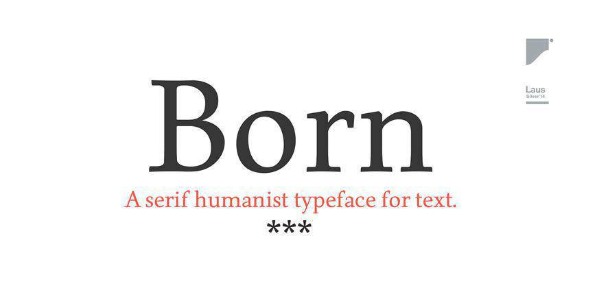 Born free clean font typeface