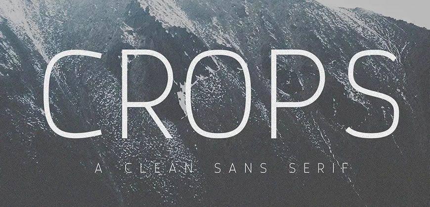 Crops Clean Sans font typeface