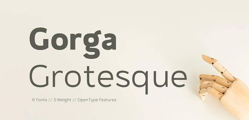 Gorga Grotesque clean font typeface