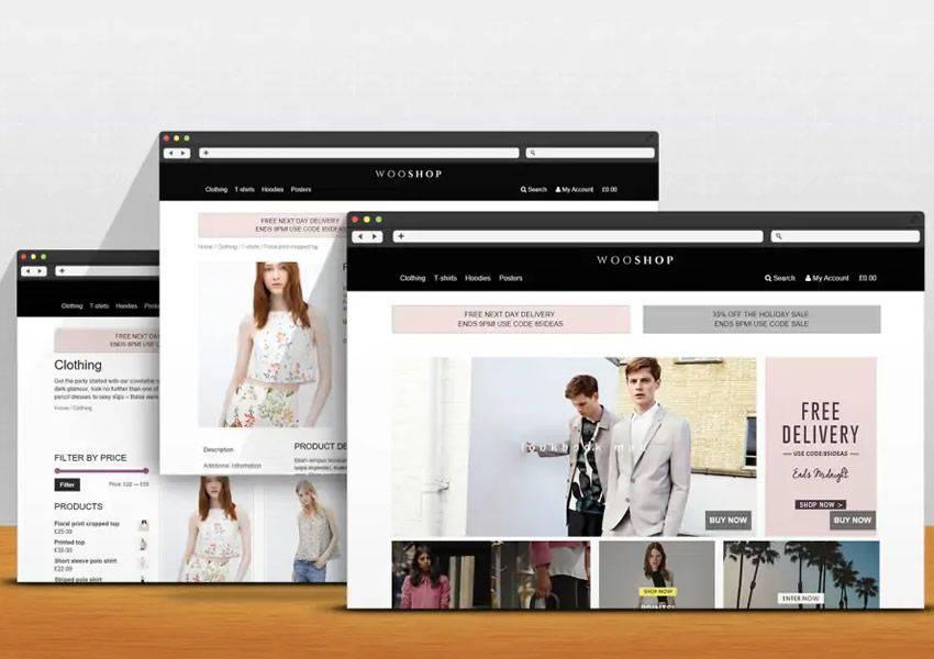 WooShop free wordpress theme wp responsive ecommerce shop woocommerce