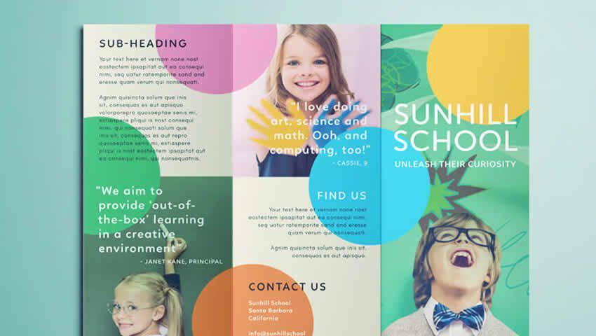 Colorful Tri-Fold Brochure Template