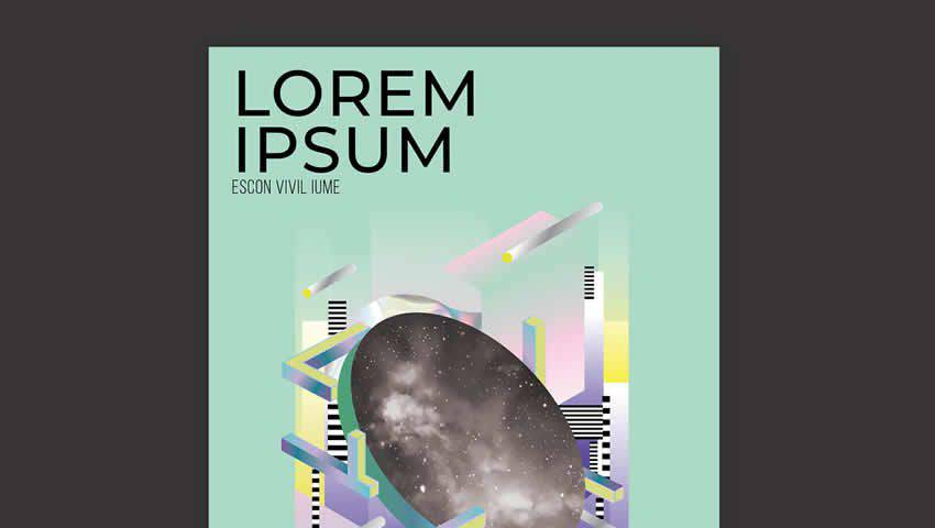 Futuristic Event Posters Set for InDesign