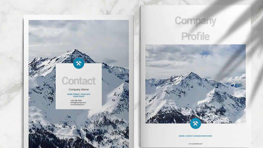 Blue Business Brochure Layout