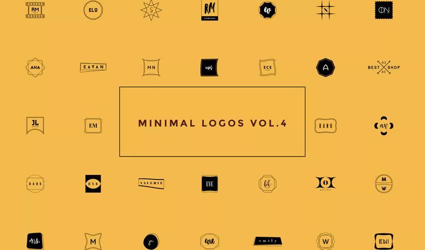 50 minimal ai illustrator psd photoshop logo template brand collection pack