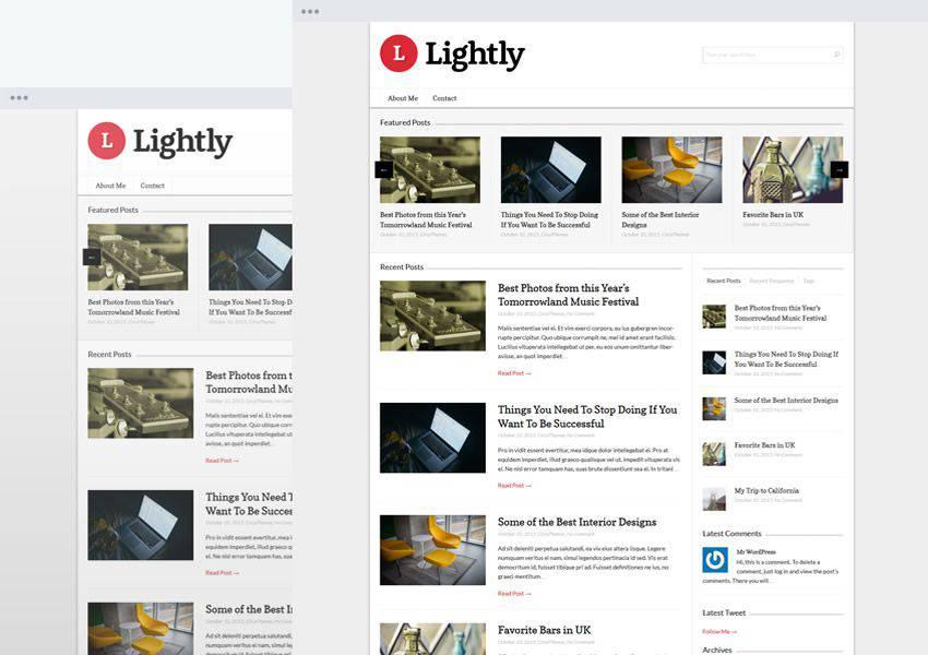 Lightly free wordpress theme wp responsive personal blog blogger blogging