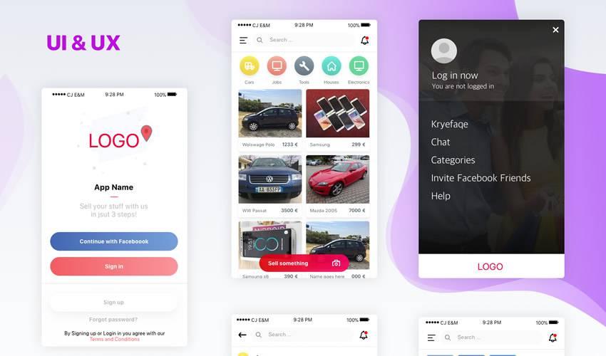 eCommerce sketch mobile app ui kit sketch ux format free design creative sketch.app