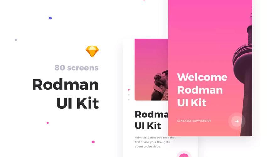 rodman sketch mobile app ui kit sketch ux format design creative sketch.app