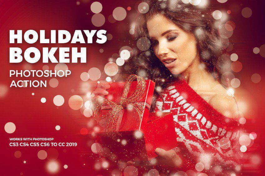 Holidays Bokeh Photoshop Action