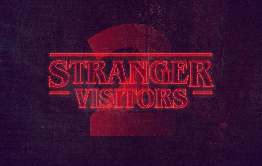 Free Stranger Things Photoshop Text Style Layer PSD
