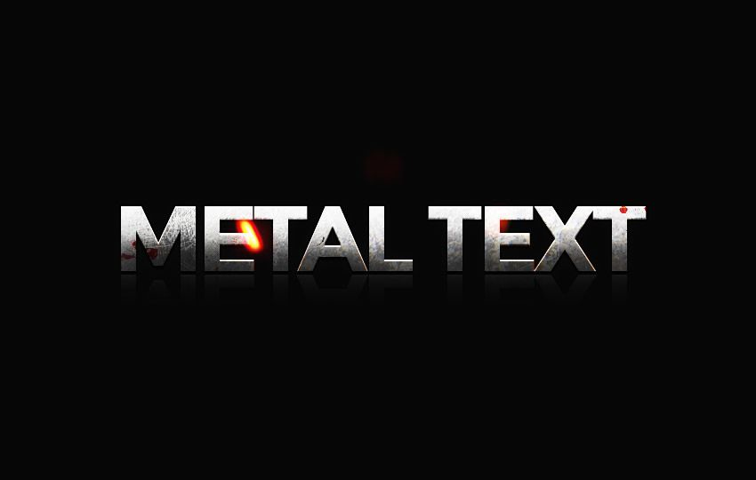 Free Photoshop Layer Styles PSD Metal Text Text
