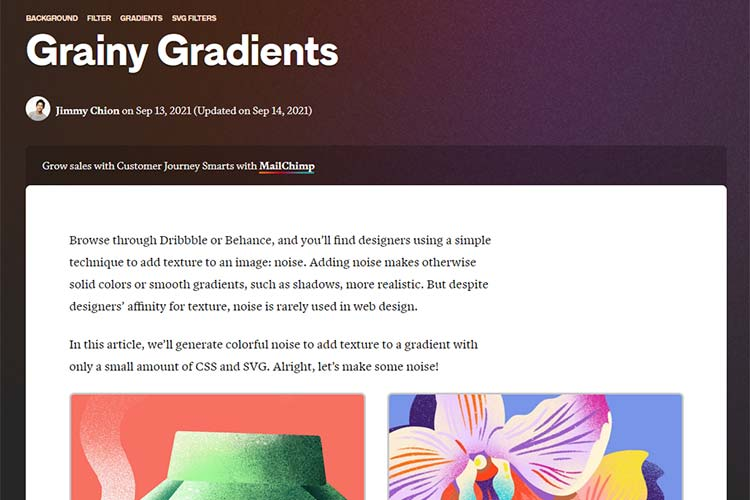 Example from Grainy Gradients