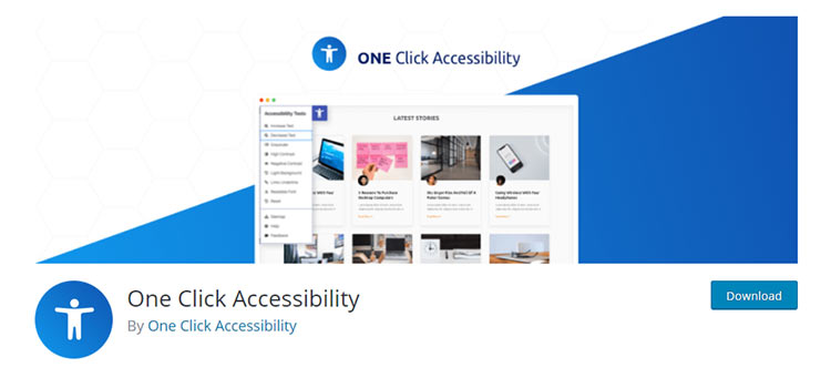 One Click Accessibility