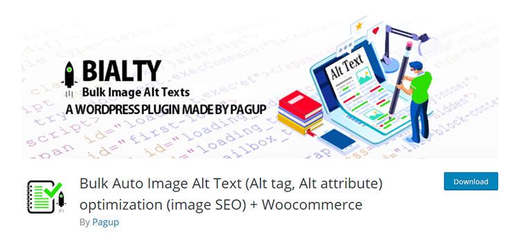Bulk Auto Image Alt Text (Alt tag, Alt attribute) optimization (image SEO) + WooCommerce