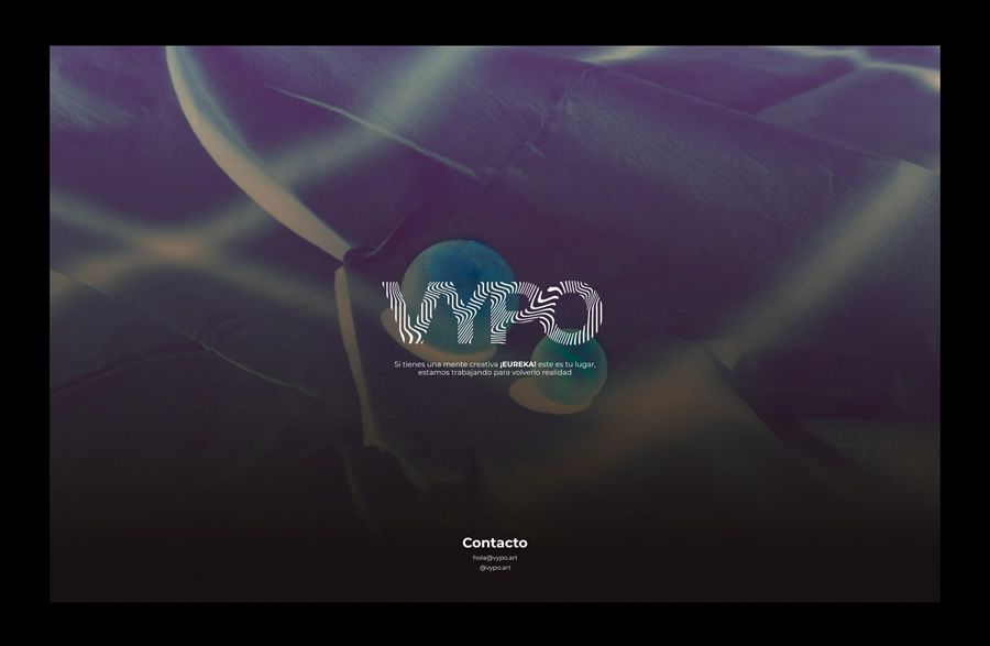 VYPO coming soon page web design inspiration