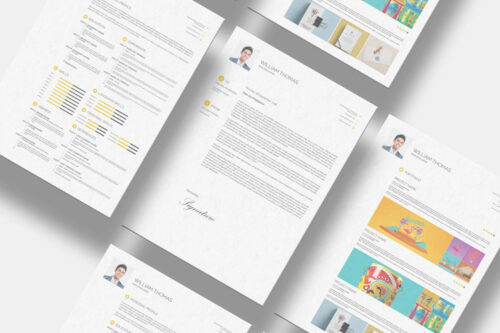 Example from 10 Free InDesign Templates for Creating Professional Resumes