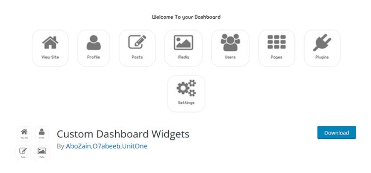Custom Dashboard Widgets