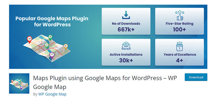 Maps Plugin using Google Maps for WordPress – WP Google Map